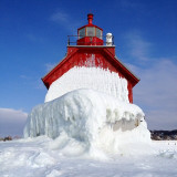 Grand Haven lighthouse mid-winter.