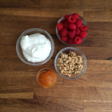 mise en place in place for a delightfully delicious layered yogurt
