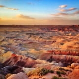 Painted Desert Rim at sunset