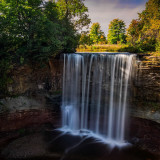 Long Exposure of Indian Falls near Owen Sound, Ontario, Canada