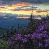 Sunset from near the summit of Mount Chocorua in the White Mountain National Forest of New Hampshire.