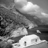 Small chapel at Agia Anna,Amorgos. This is one of the location where the movie The big blue was filmed.