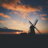 Sunset at Herringfleet windmill, Suffolk.