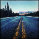 This a shot of the Rockies as I was entering Banff National Park. It was a beautiful December day.