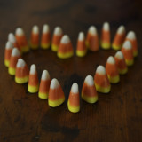 candy corn heart