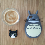 Totoro and cat cookie coffee time