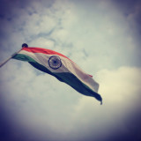 With head held up high !! Proud Indian.