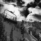 B&W Chairlift in the sky