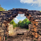 The gateway into the San Gervasio mayan ruins.   -Cozumel, Mexico