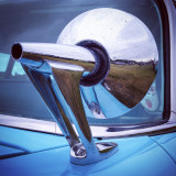 1950's #futuristic #style #vintage #mirror #US #classic #car #chrome #retro #SciFi #inspiration #design #statement #automotive #detail #Bodiam