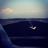 Touchdown on landingstrip Holland