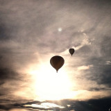 Hot air balloons at Ashley for the Arts in Arcadia. Great bands and fireworks too!!