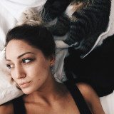 Girl & Cats