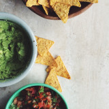 Chips, guacamole, pico de gallo