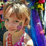 Face painting at a festival