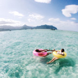 Floatie life at the Kaneohe sandbar