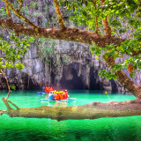 Puerto Princessa Underground River, One of the New 7 Wonders of Nature and UNESCO Heritage Site. One of the highlights in my Feb 2015 vacation back to the Philippines is going to Palawan, coined the best island in the world by Conde Nast Traveler's Readers' Choice Awards for 2014. Part of why it won was due to this Puerta Princessa Subterranean River.