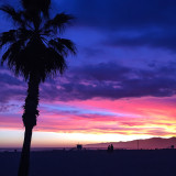 Epic Sunset in Santa Monica, CA