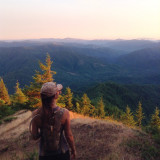 I'm on top of the world (King's Mountain) in the beautiful and green state of Oregon