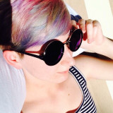 Rainbow hair always makes for good profile pictures