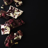 Chocolate bark with fruits and nuts