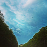 The sky from a road view