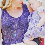 Mother and daughter love and style for summer
