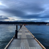 Union, Washington. The dock is frequently used by visiting seals to sub themselves