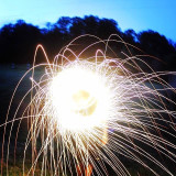 Long exposure sparklers