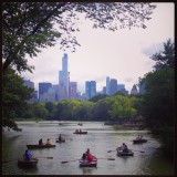 Boats in the water at Central Park