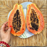 Wonderful and tasty fruit-papaya in Portugal