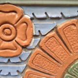 Detail from a building on Granville St. Vancouver
