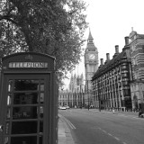 Walking the streets of London.