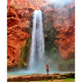 Mooney Falls. Havasupai. Grand Canyon National Park, AZ. With my boo.