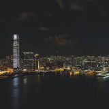 The skyline of beautiful Hong Kong, couldn't get a better night view of it.