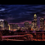 Evening at Charlotte NC The Queen City