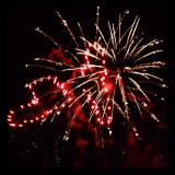 Heart fireworks on 4th of July workks great pic for many celebrations and occasions
