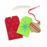 Retro gift tags.