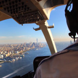 Helicopter ride over New York City