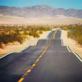 An endless road through Arizona on Route 66..