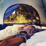 I can wake up like this everyday. Camping trip to Lopez Lake California
