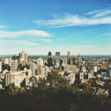 View of downtown Montreal from Mount Royal