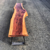One solid slab of redwood for a bench created by STATUSWOOD