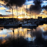 Tranquil Harbour Sunset