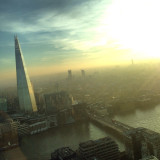 From the skygarden at 20 Frenchurch street, this picture with the Shard looks very futuristic to me!