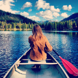 Canoe adventure on a gorgeous little Montana lake