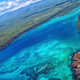 Flying over the Galápagos Islands