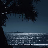 Evening view of Surfers Paradise skyline from Currumbin - Gold Coast, Australia