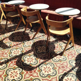 Handsome chairs and their shadows at Dineen Coffee Co. in Toronto