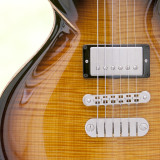 Close up of Dean Soltero electric guitar